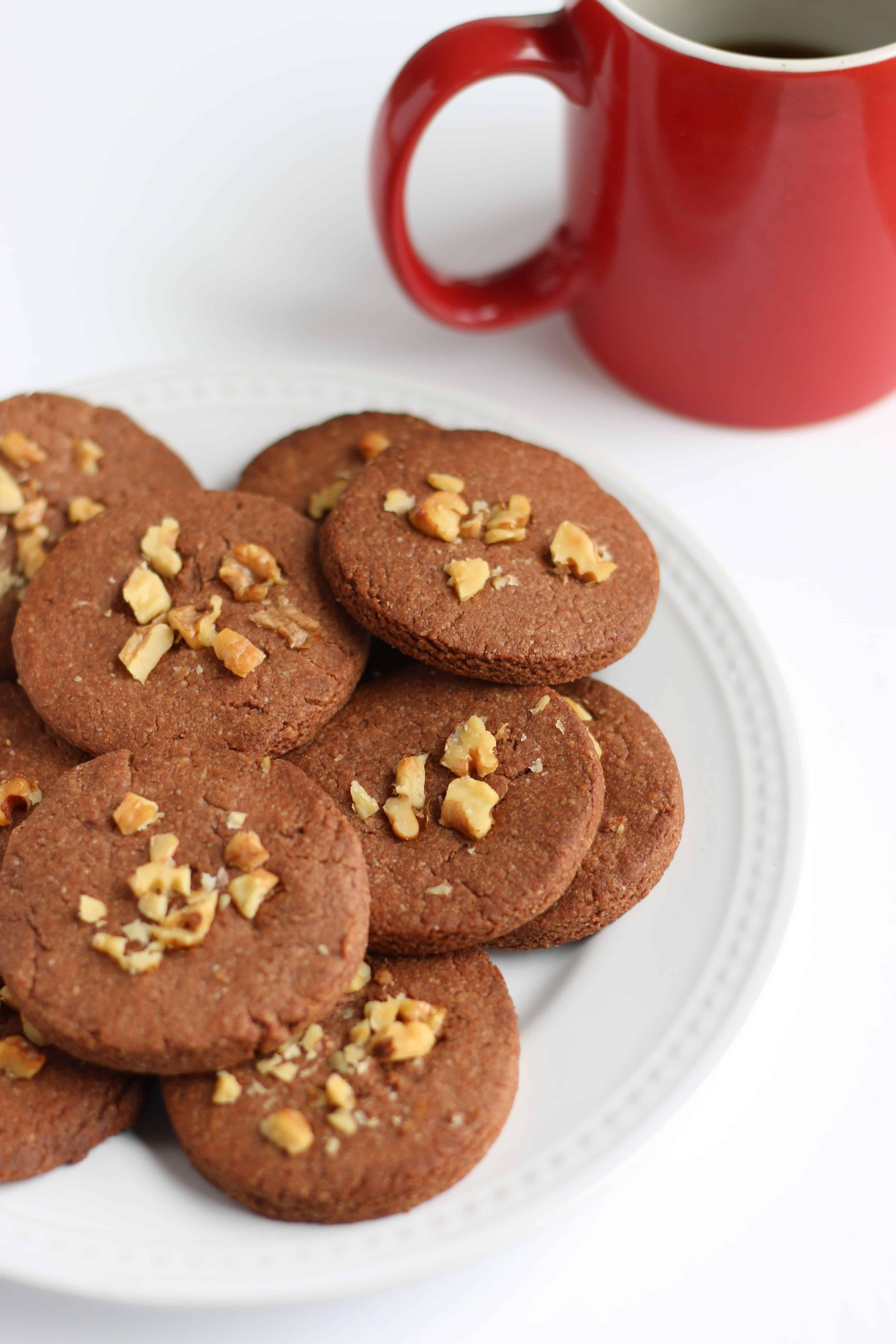 crunchy vegan cacao cookies