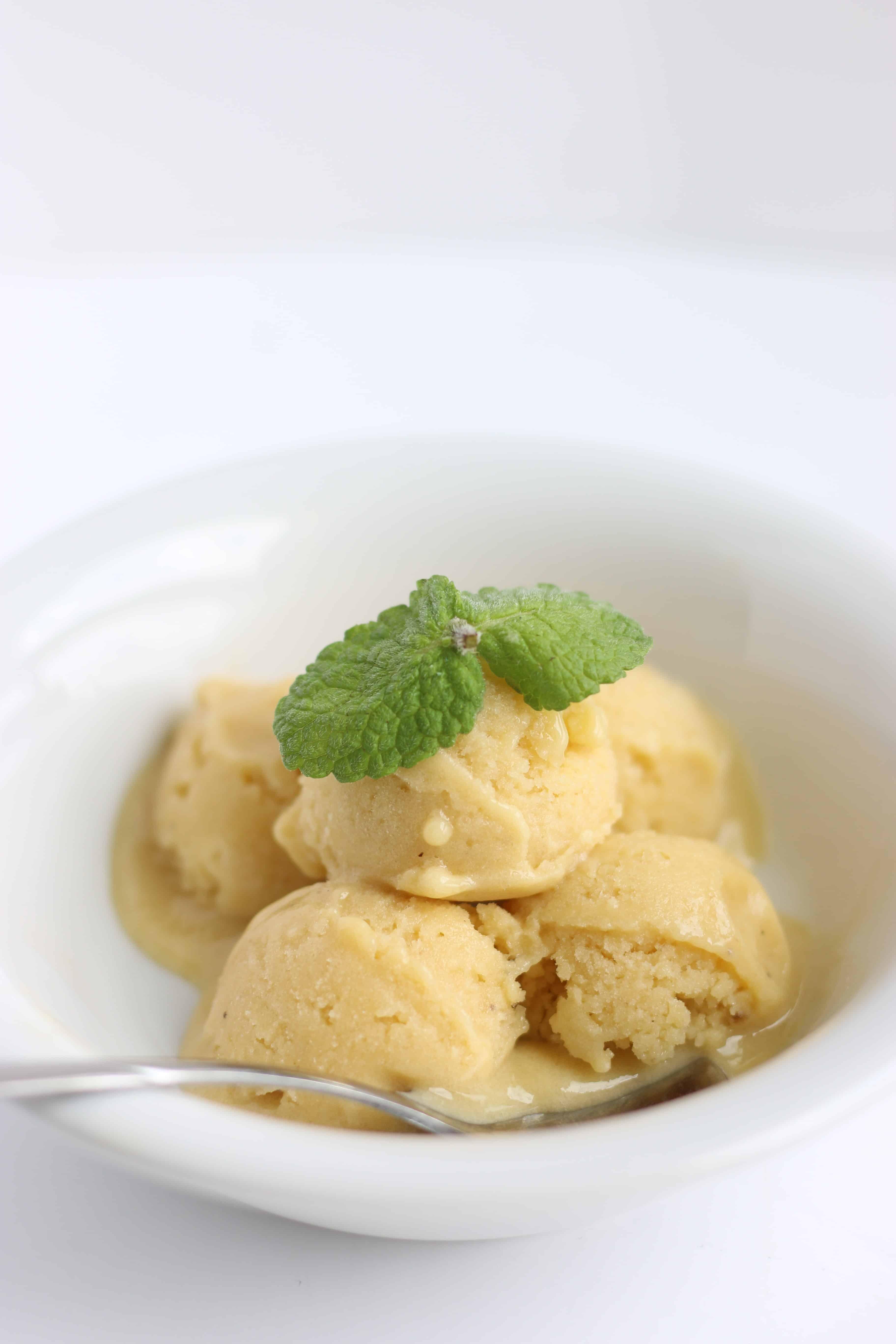 frozen banana mango ice cream
