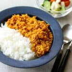 Japanese style tempeh dry curry