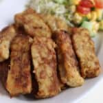 Tempeh Japanese Syogayaki Recipe. Syogayaki is usually with pork but this is vegan version. Ginger, mirin and soy sauce marinade turns an simple taste tempeh into delicious japanese style main dish. chefjacooks.com