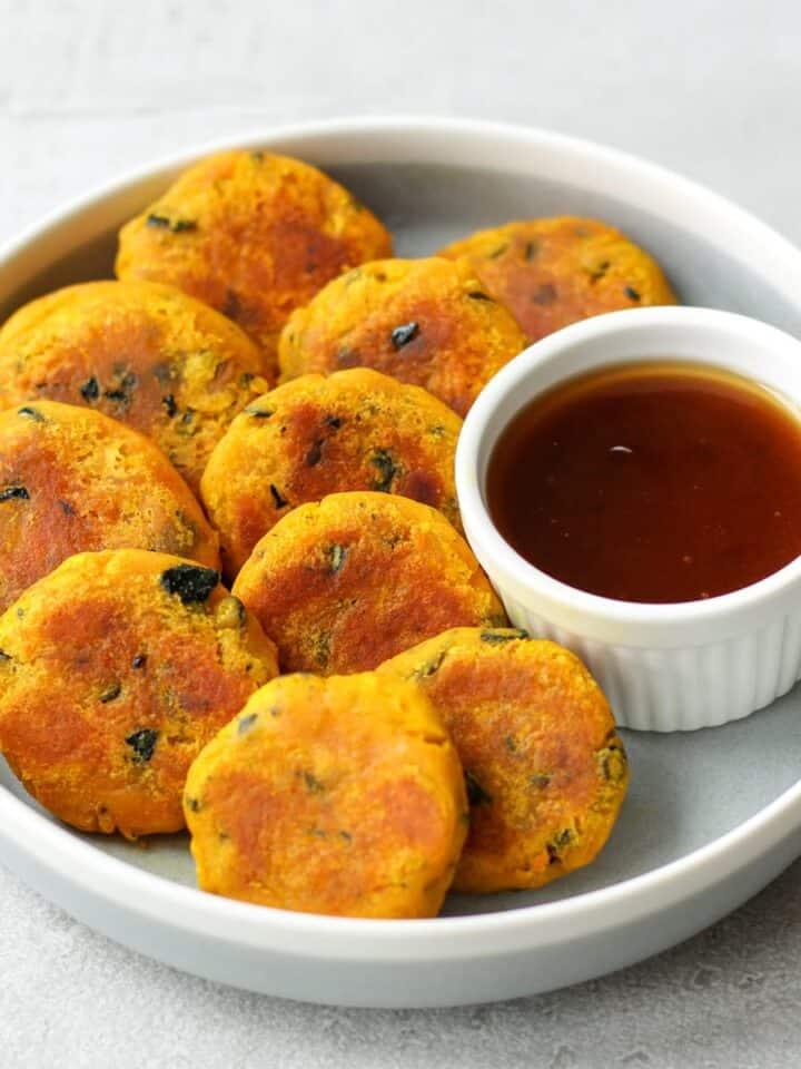 Kabocha dango(Japanese pumpkin snack)