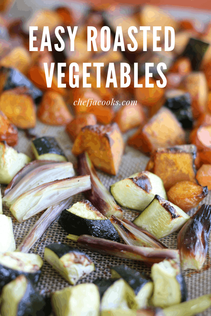 Easy recipe! make Roasted Vegetable with left over vegetables and you can have one more dish for dinner. Just add salt, pepper and olive oil and leave it to the oven. It is highly recommended for busy moms and dads.