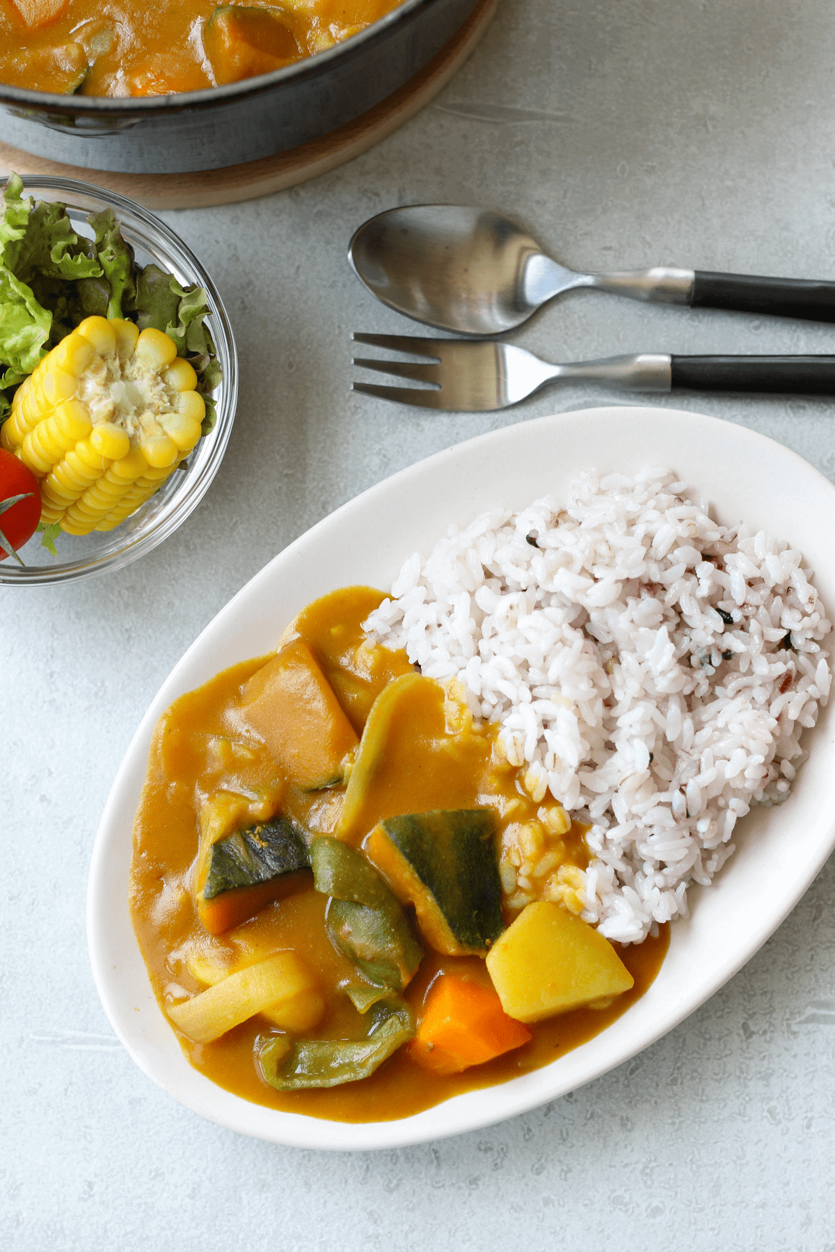Japanese Summer Vegetable Curry Rice