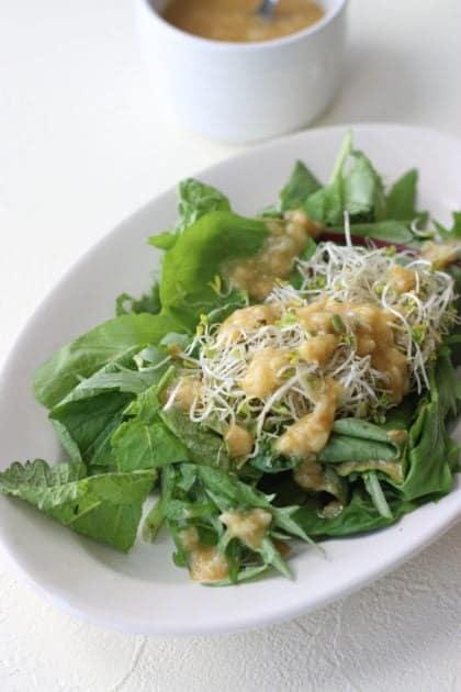 Salad with Amazake miso dressing