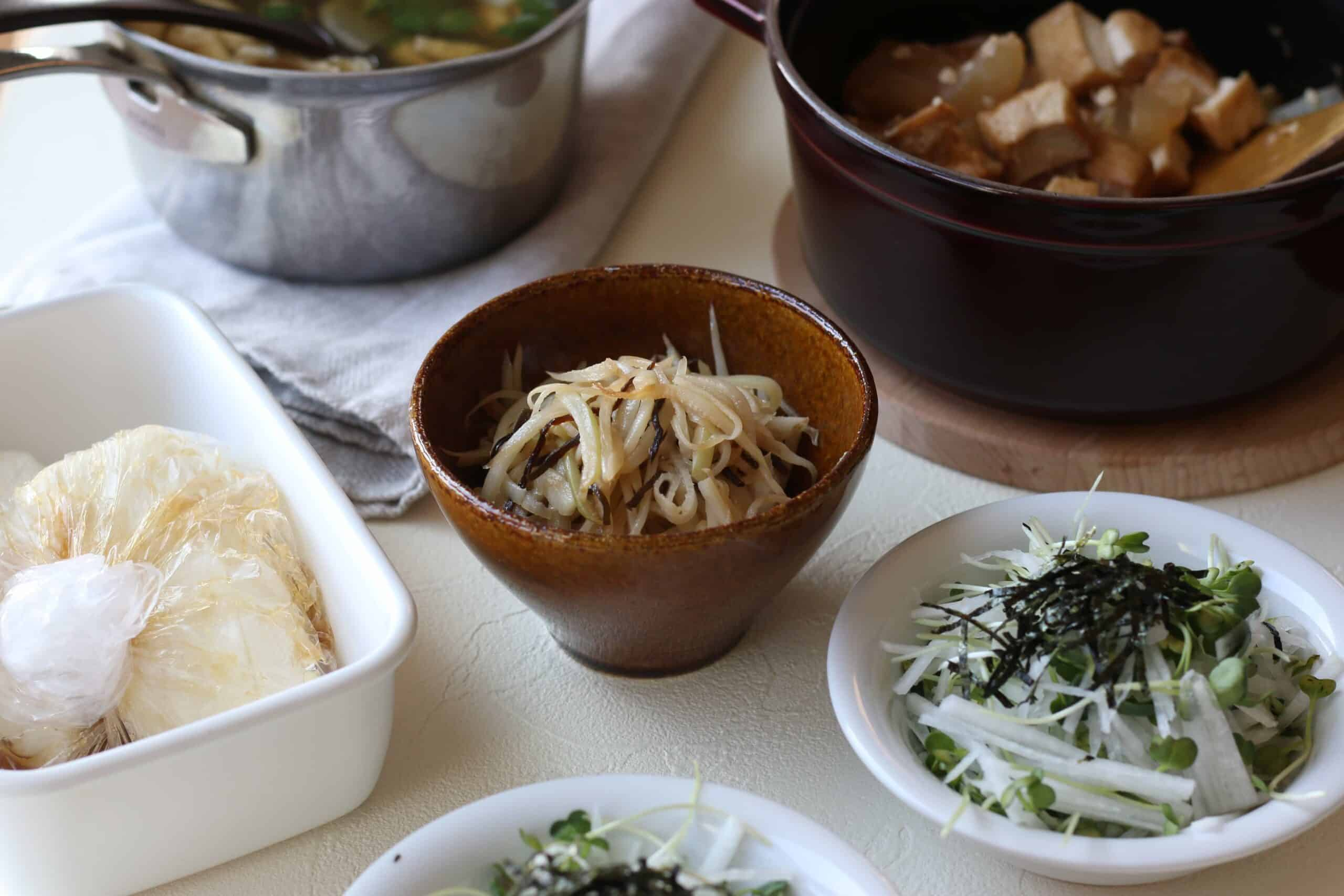 5 different daikon dishes