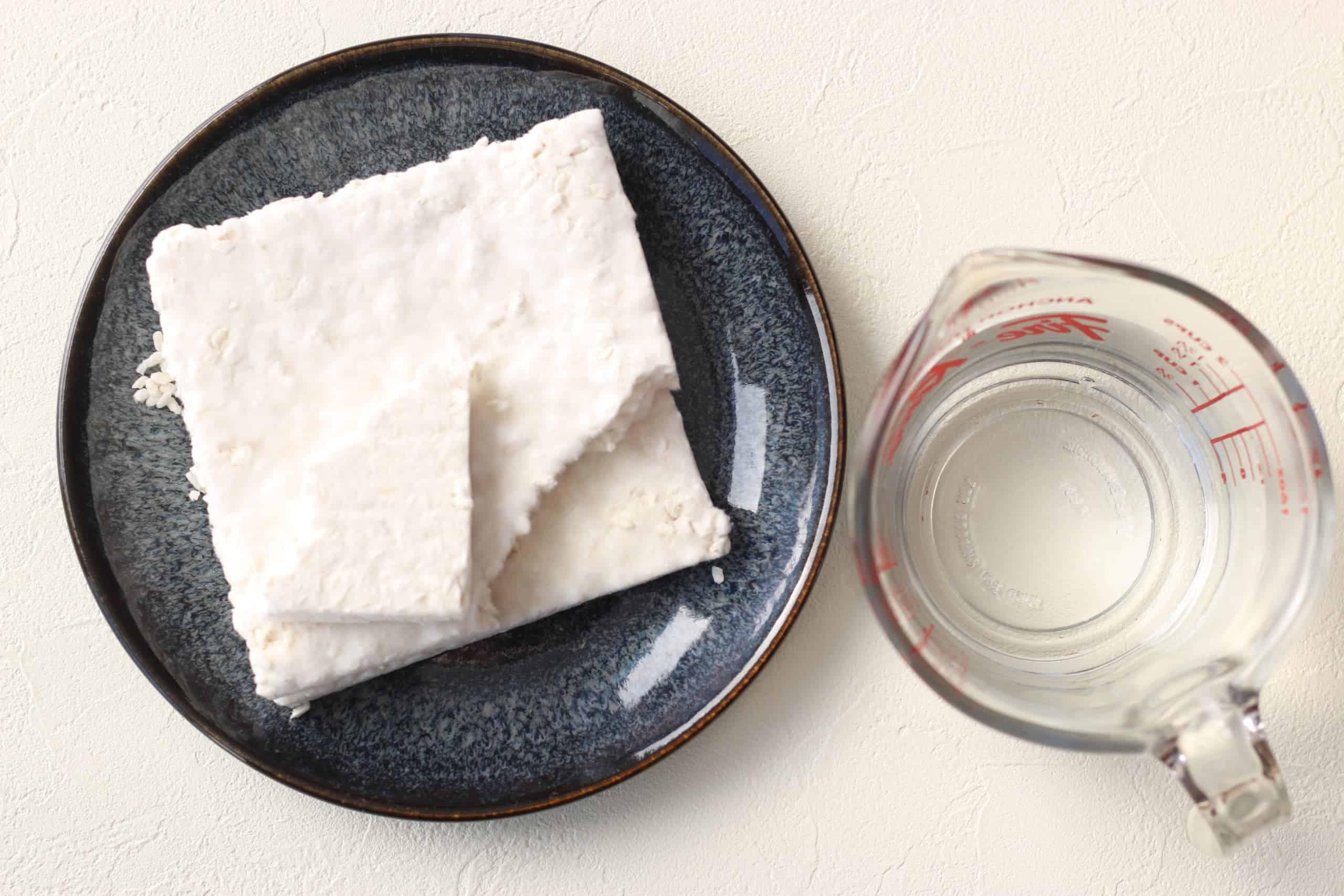 Rice koji and water