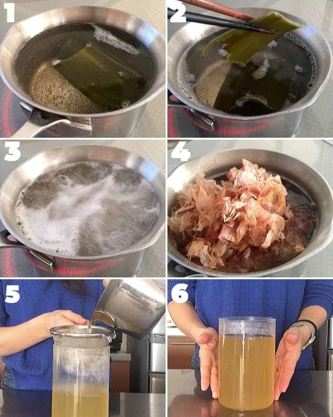 how to make awase dashi(basic Japanese stock)
