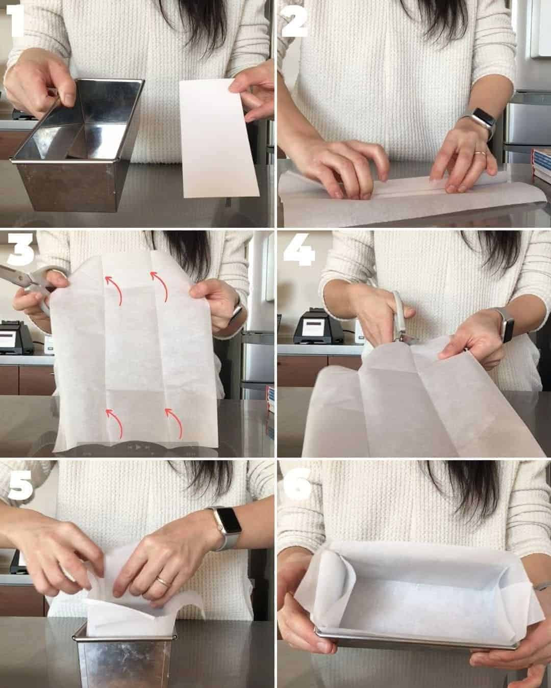 パウンドケーキ型にクッキングシートを敷く方法