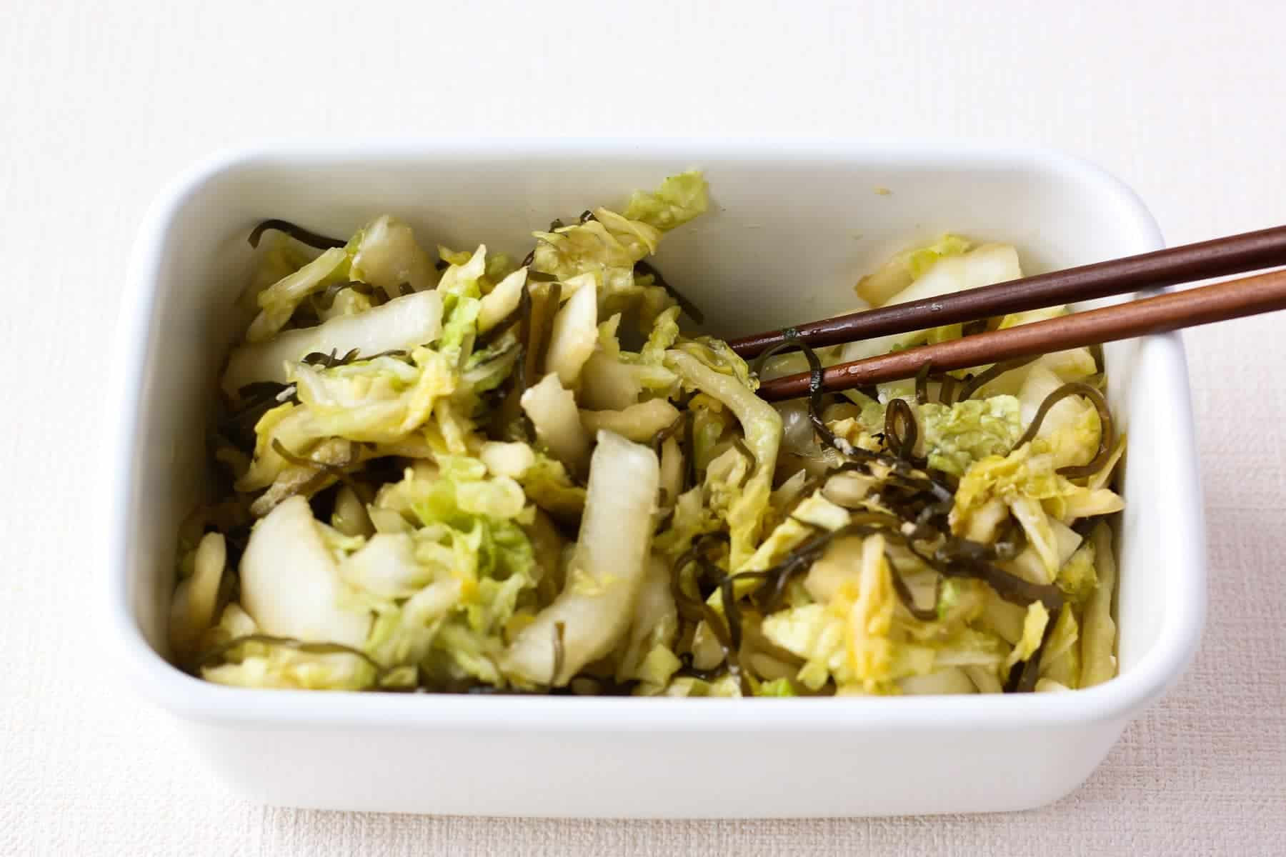 Japanese Pickled Napa Cabbage Recipe Chef Ja Cooks Simple Gohan
