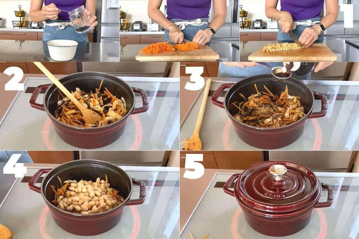 how to make Japanese hijiki seaweed salad(Hijiki no nimono)