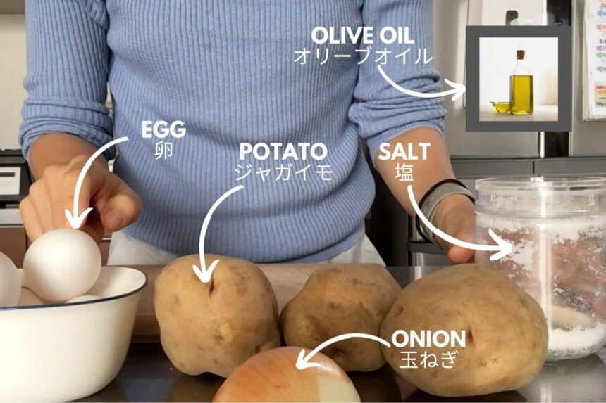 ingredients for spanish omelette recipe