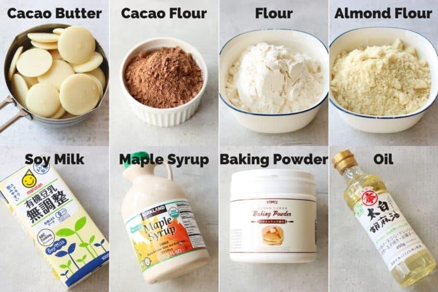 vegan brownies ingredients