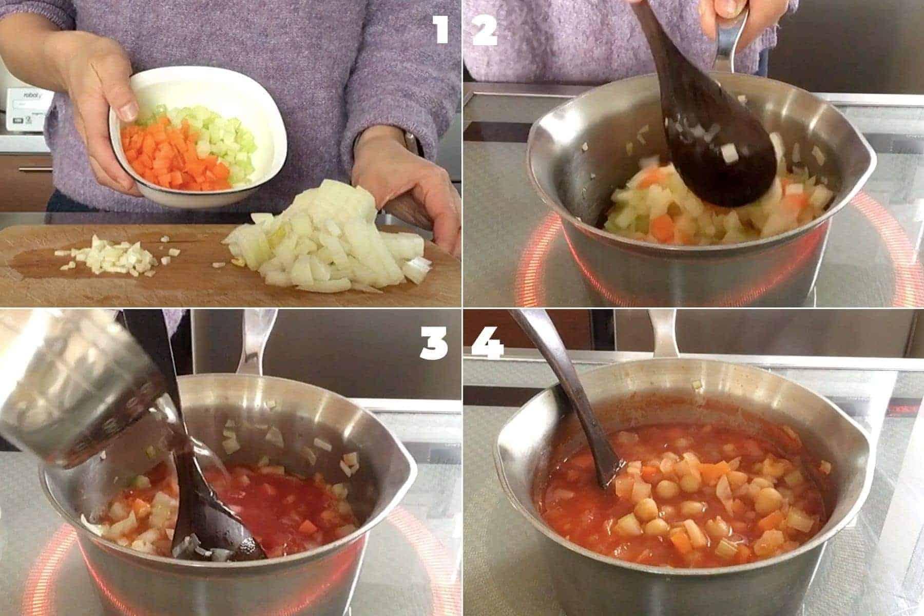 ひよこ豆のトマトスープの作り方解説