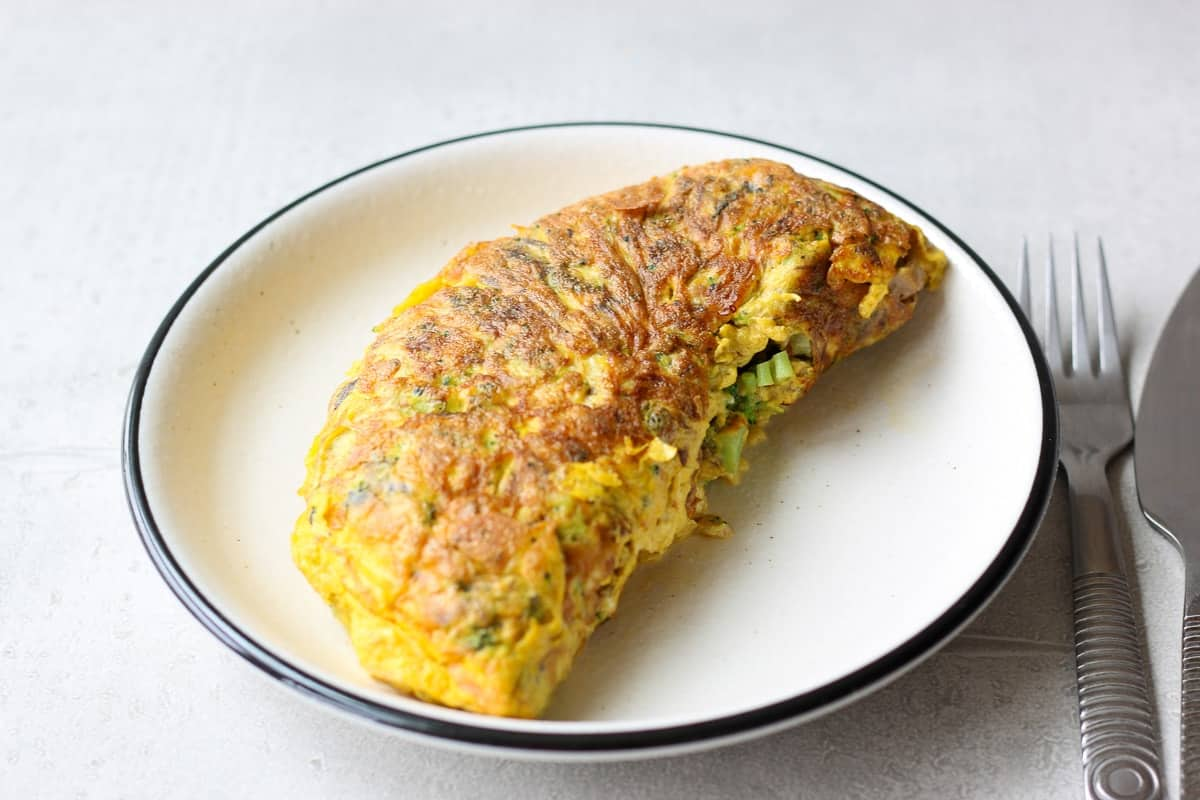 omelette with canned mackerel