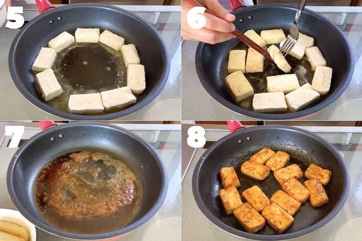 How to make Japanese teriyaki tofu and mushrooms