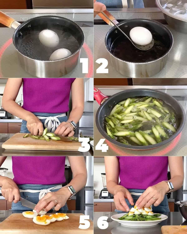 アスパラとゆで卵のサラダの作り方:詳しい解説