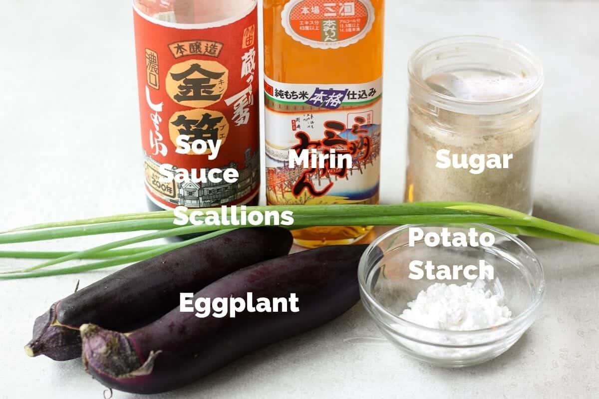 Eggplant teriyaki ingredients