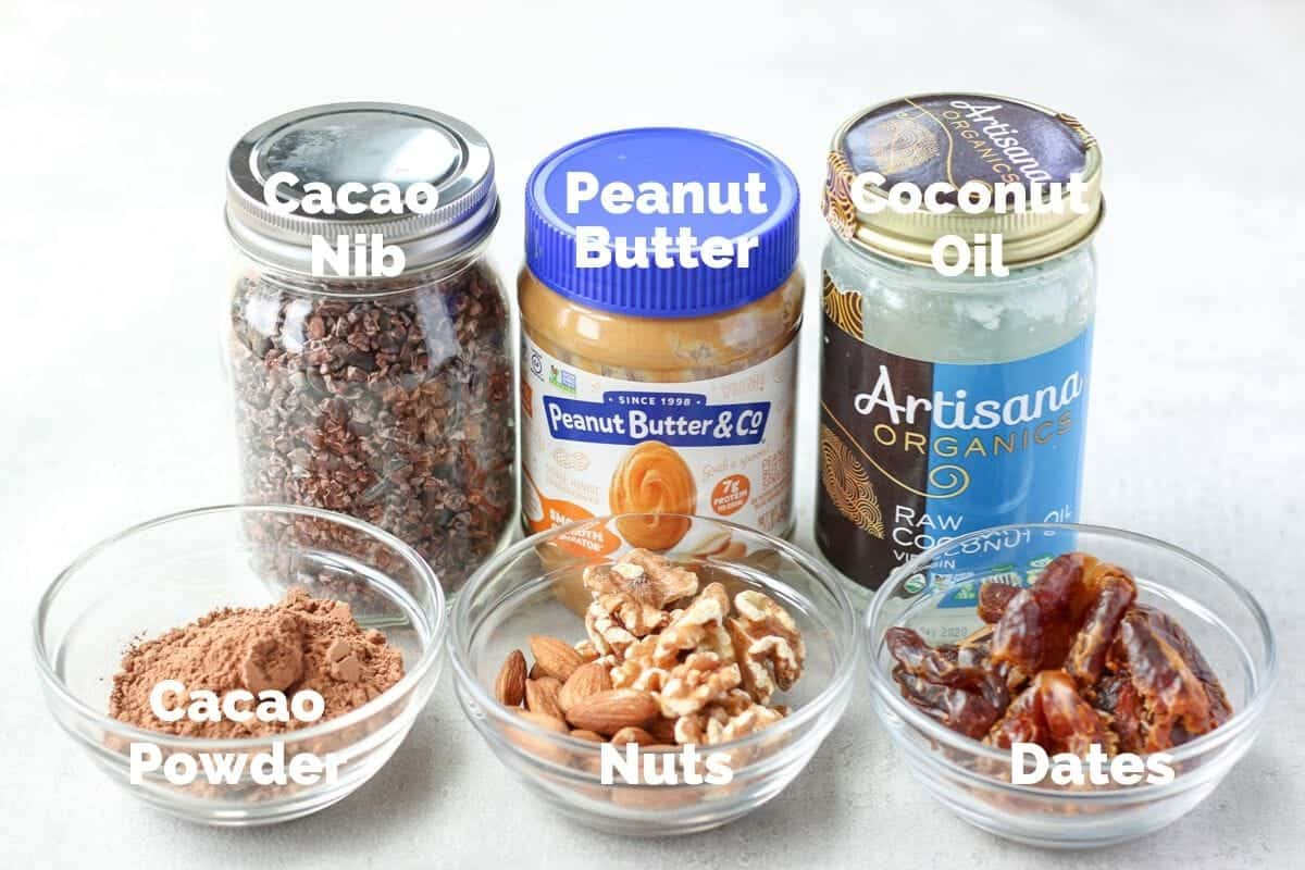 ingredients for vegan fudge