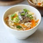 Japanese canned mackerel rice