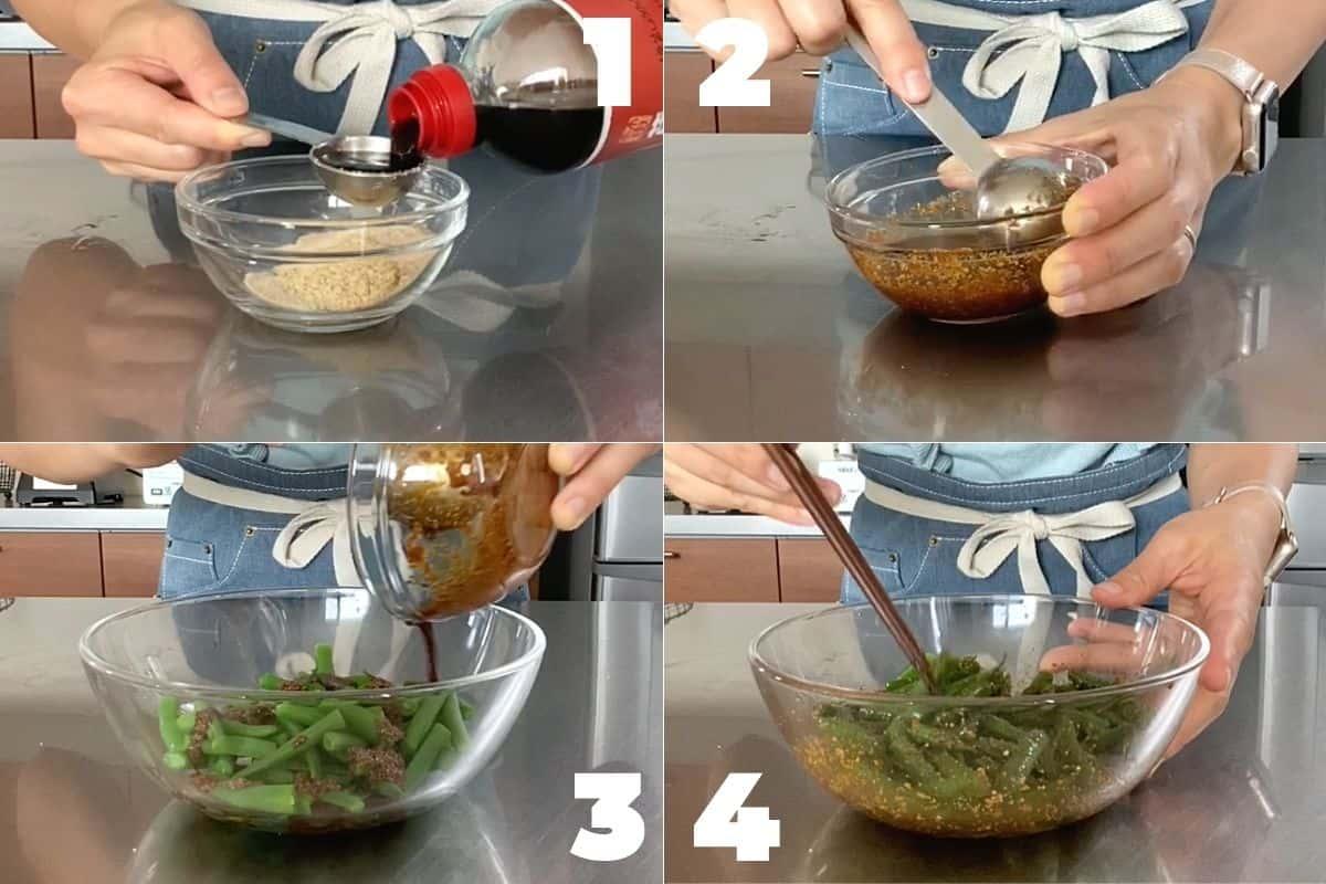 How to make Gomaae Recipe (Japanese Goma Salad)