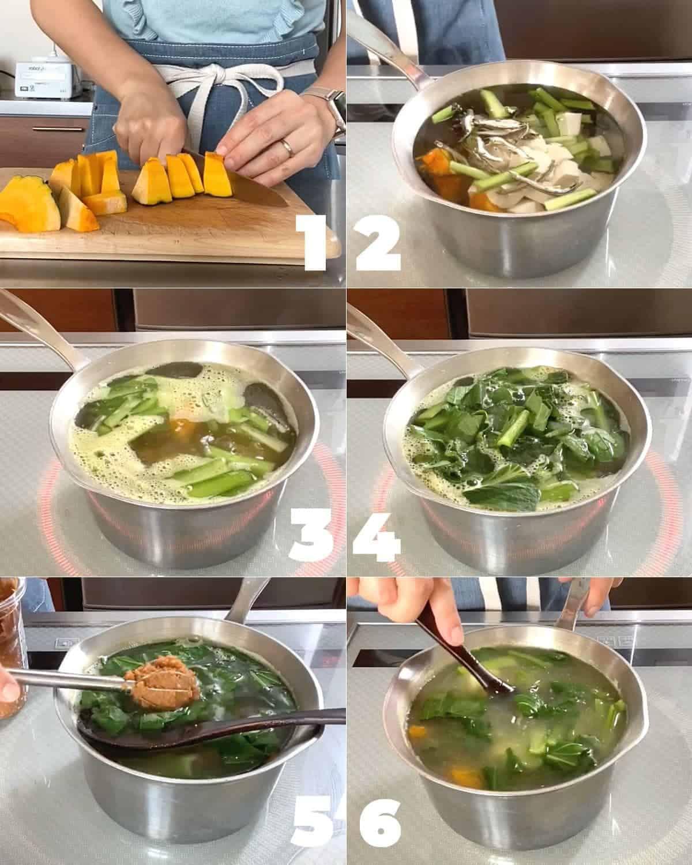 How to make kabocha miso soup