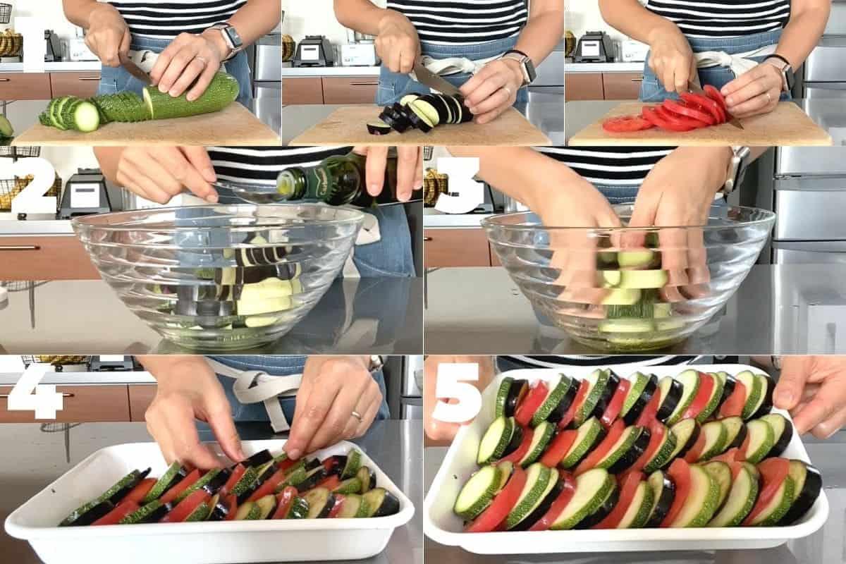 夏野菜のオーブン焼きの作り方