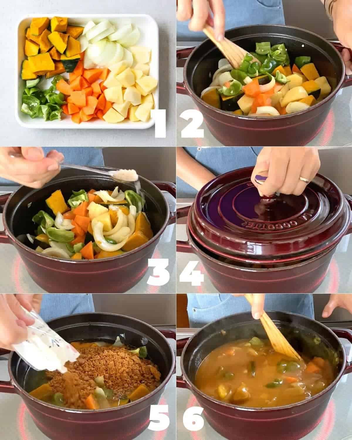How to make Japanese Summer Vegetable Curry Rice