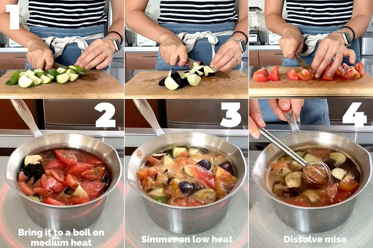 How to make Summer Vegetable Miso Soup