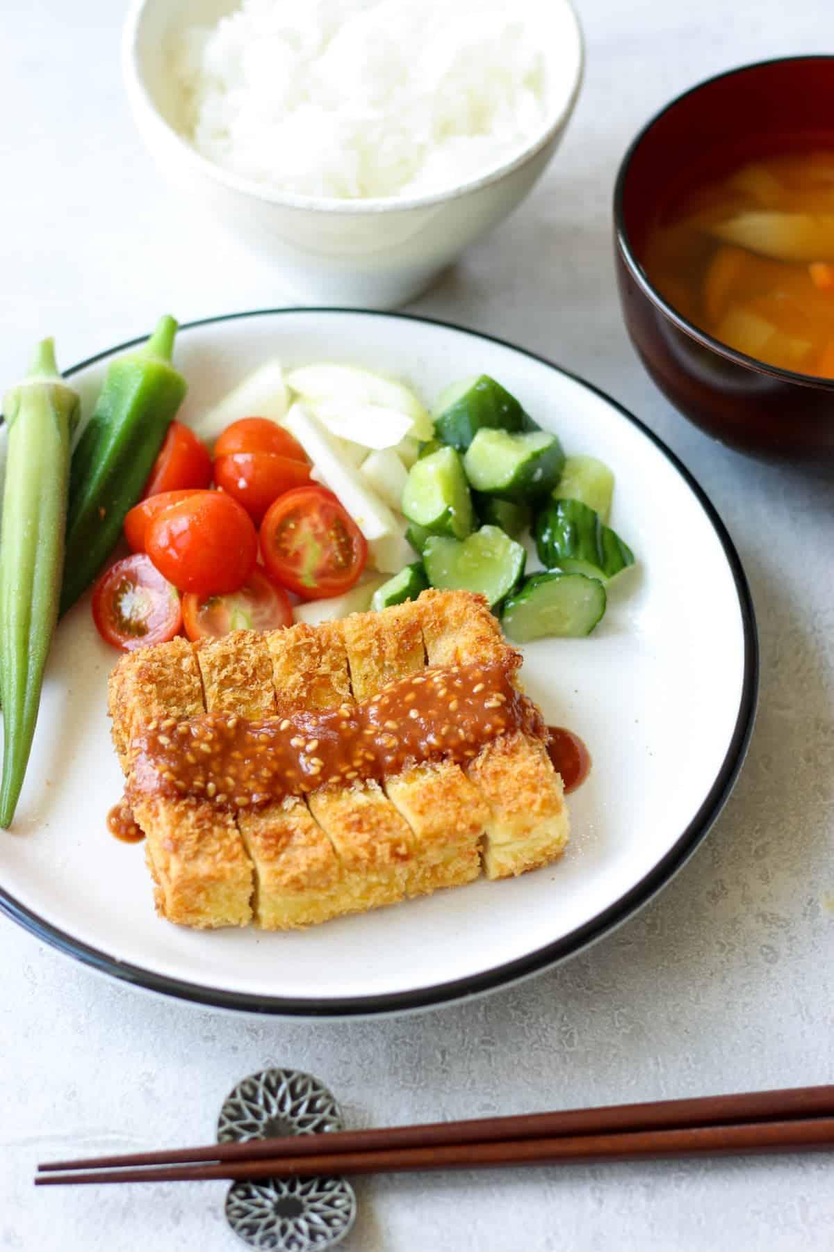 Koyadofu Katsu(Japanese tonkatsu style dish)