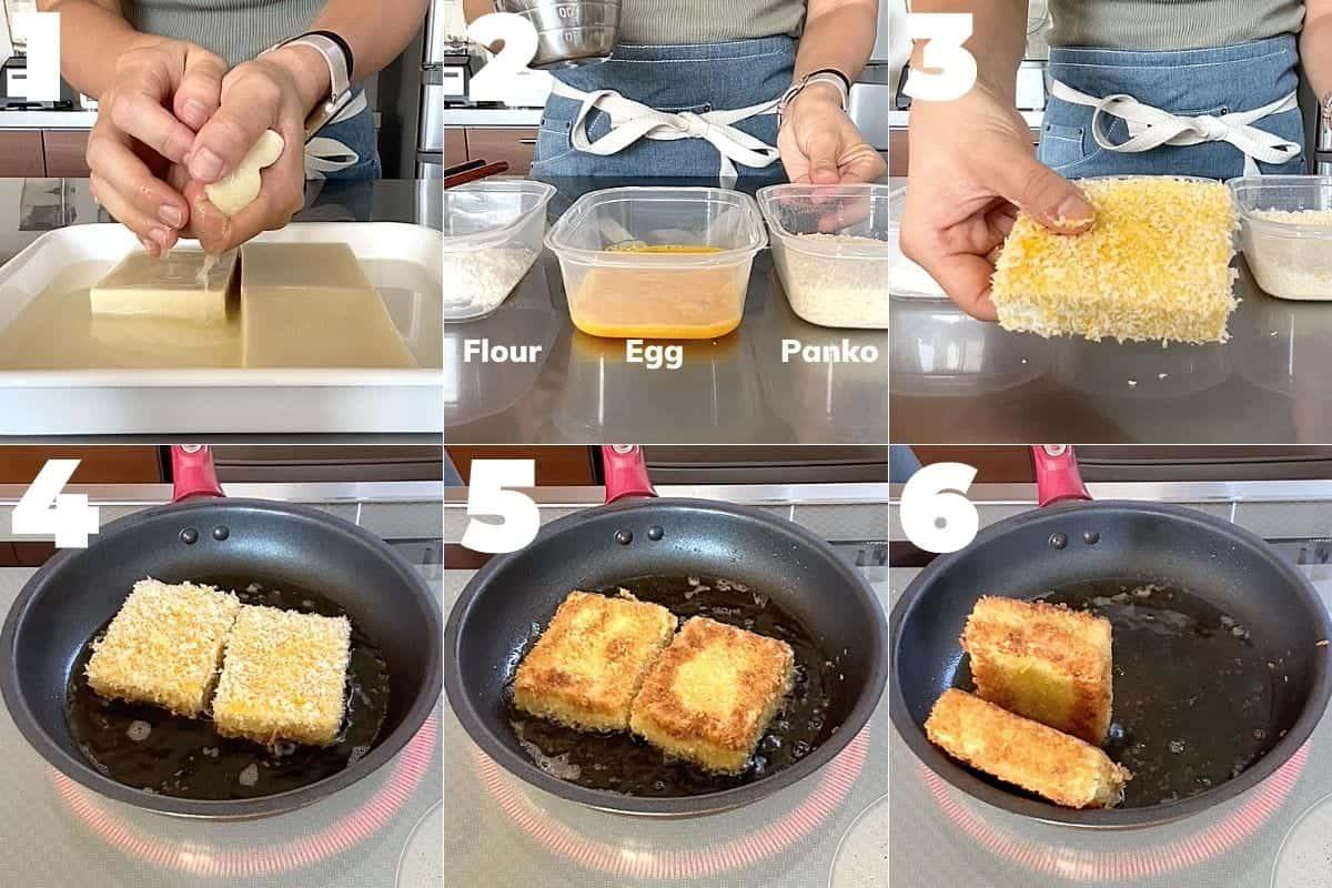 How to make Koyadofu Katsu(Japanese tonkatsu style dish)