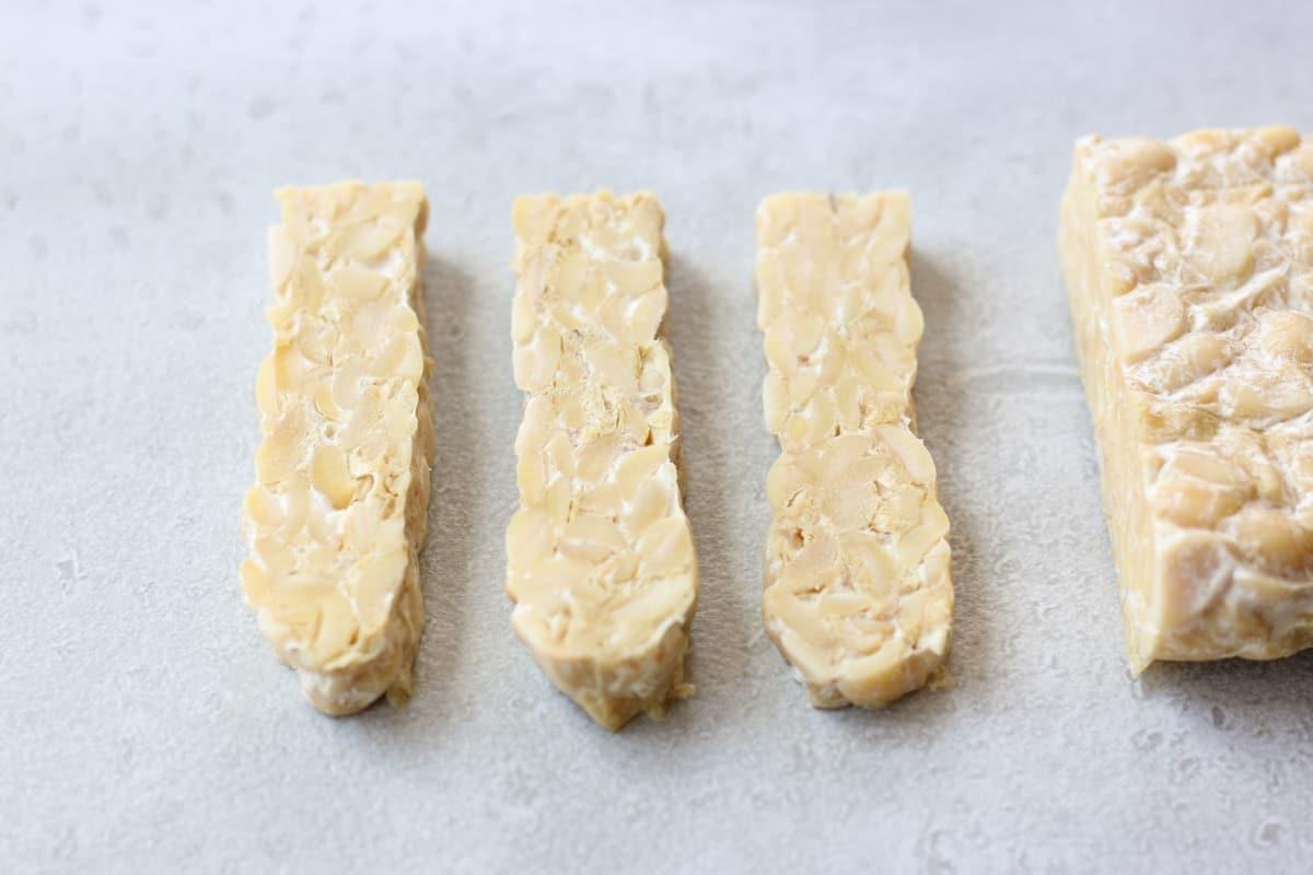 slice of tempeh