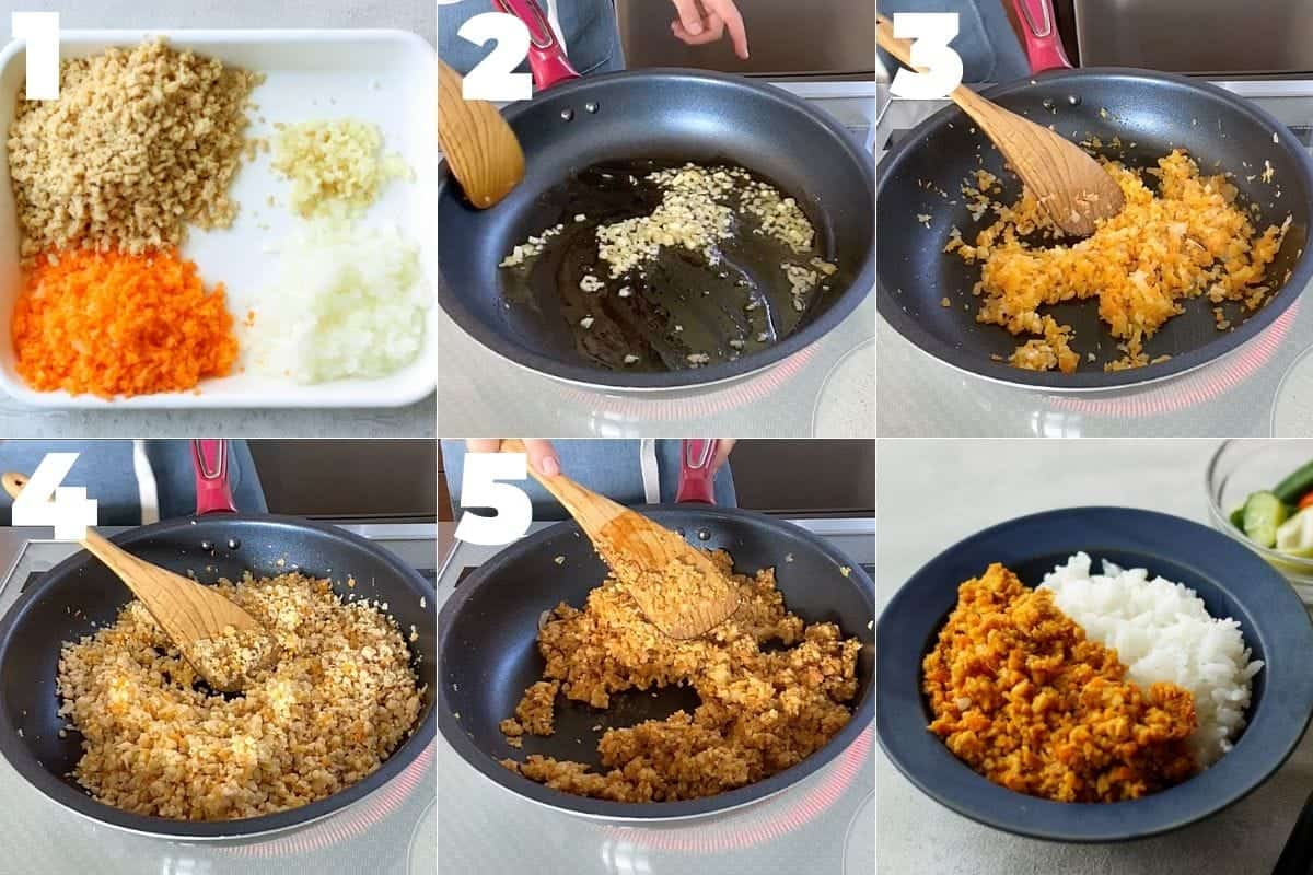 How to cook Japanese style tempeh dry curry