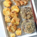 Panko Crusted Fried Eggplant and Shiitake Mushrooms