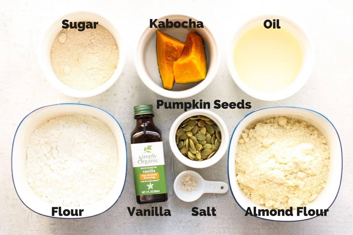 Ingredients for Japanese Kabocha Squash Cookies(Vegan)