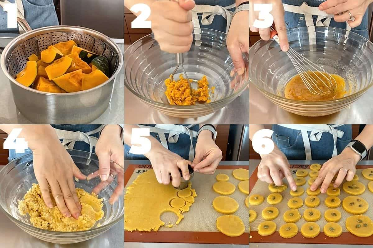 How to make Japanese Kabocha Squash Cookies(Vegan)