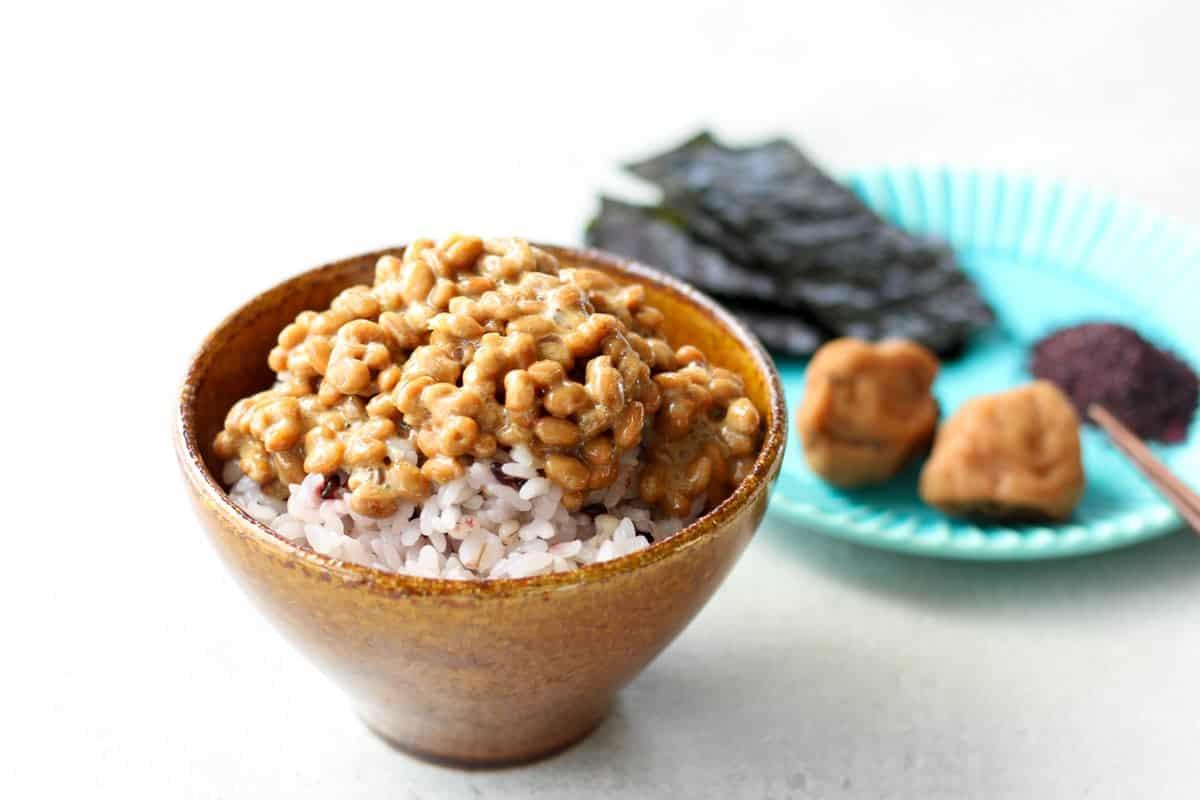 natto gohan (over rice)