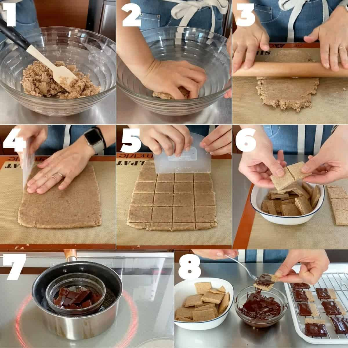 How to make Chocolate Covered Whole Wheat Cookies