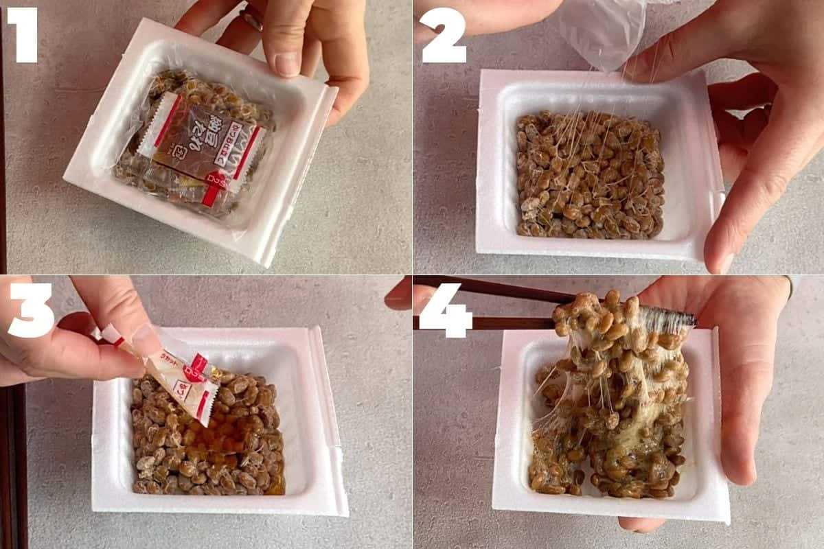 how to mix natto