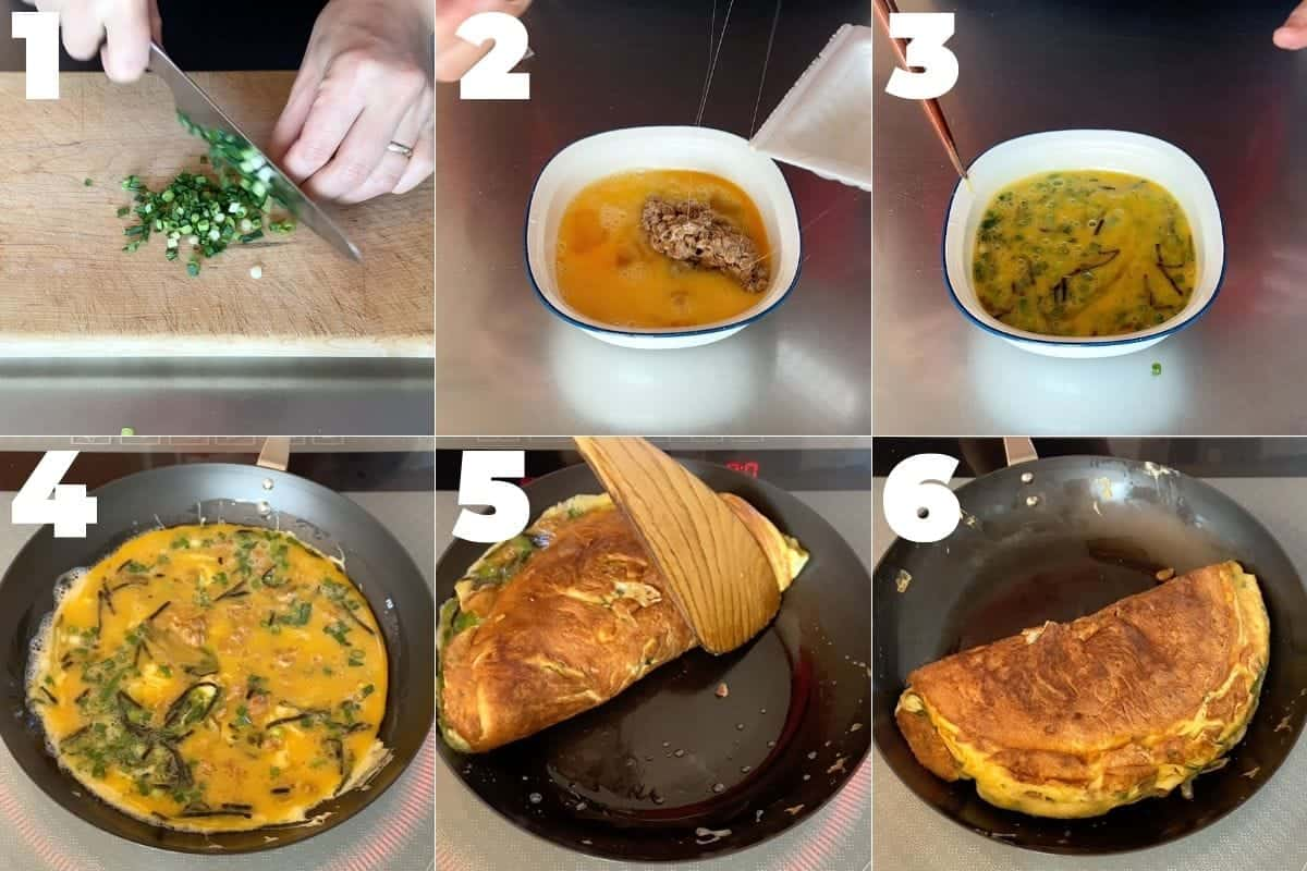 how to make natto omelette