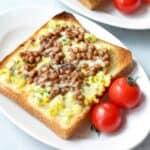 納豆のゆで卵トースト