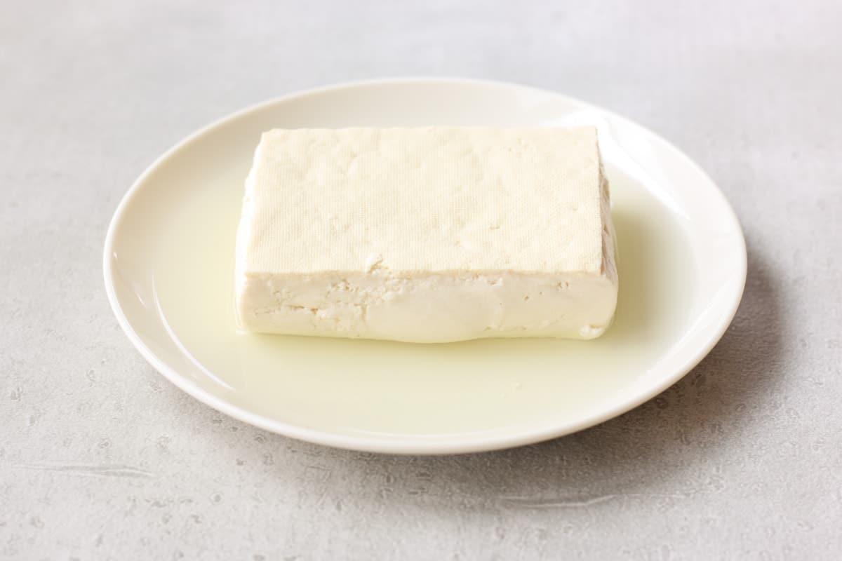 tofu after pressing