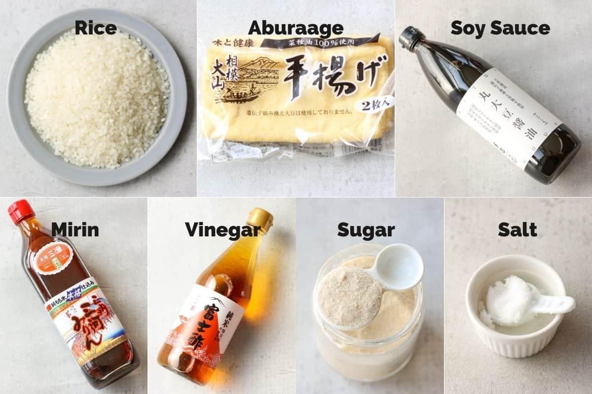 ingredients for inari sushi