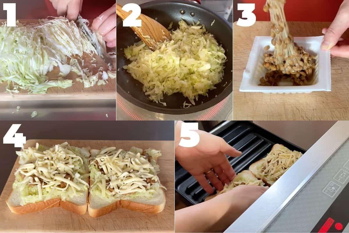 how to make natto cheese toast