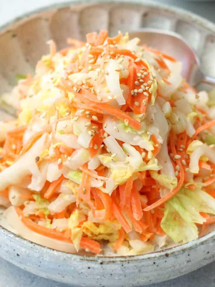 Japanese napa cabbage coleslaw