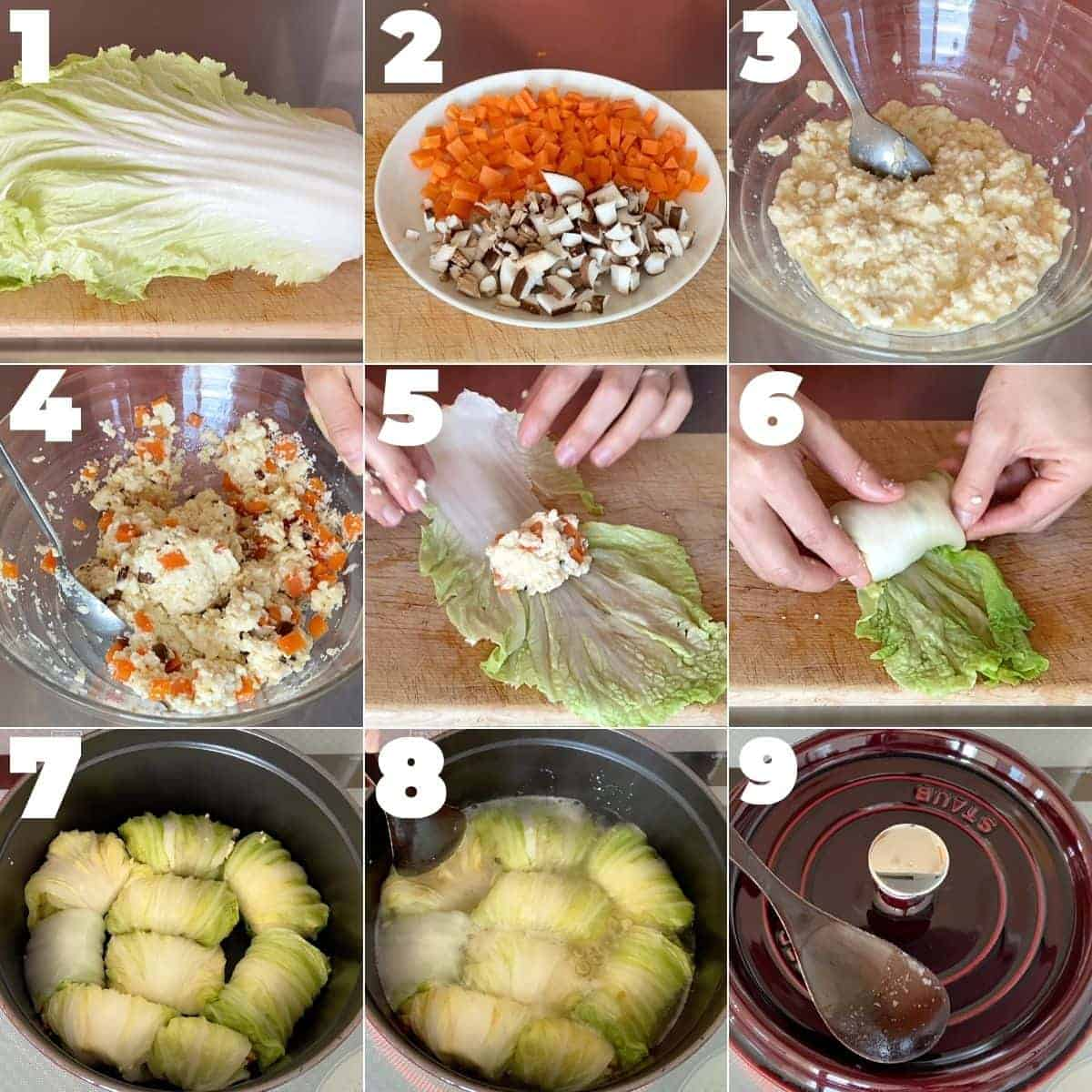 How to make napa cabbage rolls