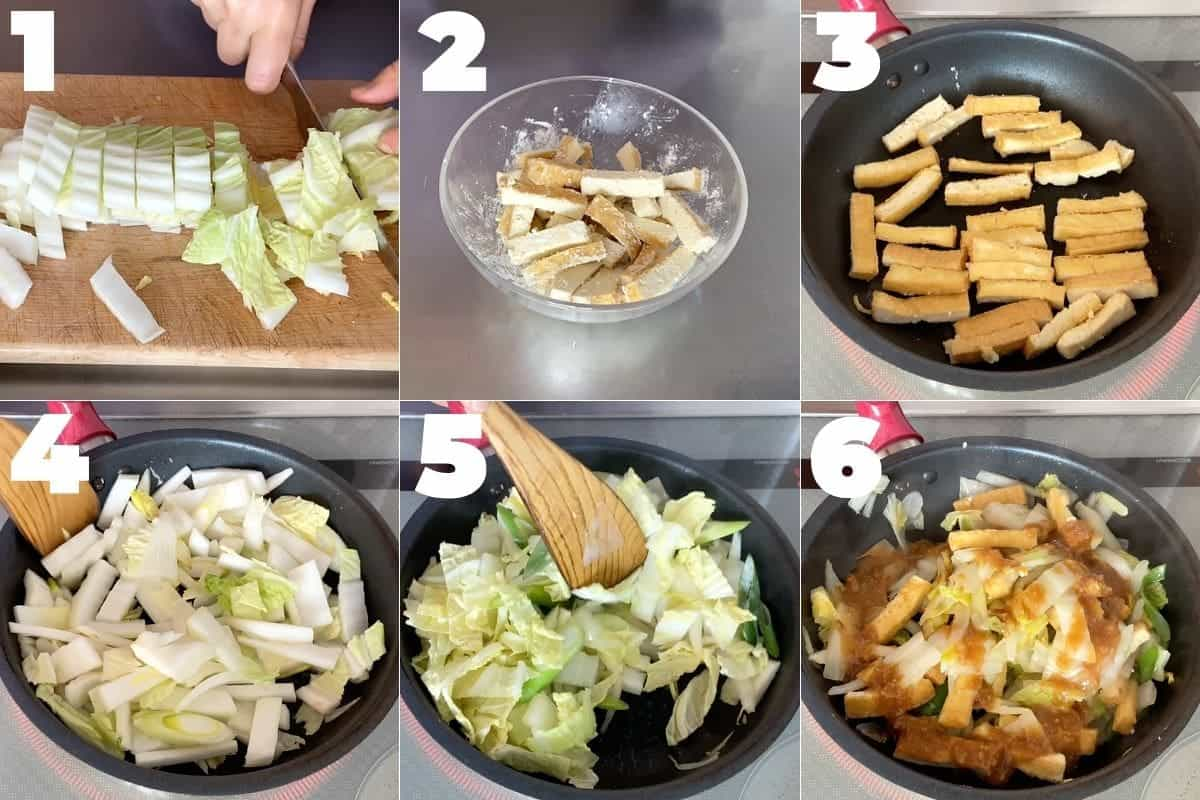 How to make Japanese Napa Cabbage Miso Stir-fry