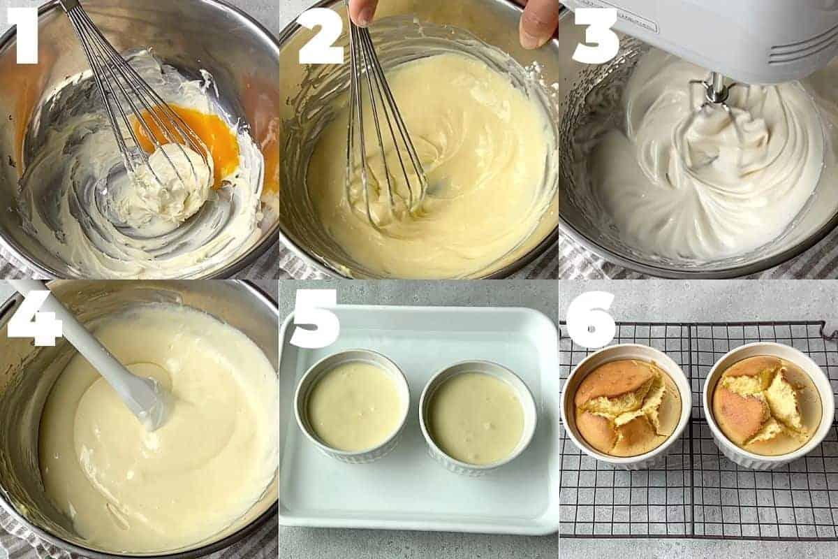 ココットスフレチーズケーキの作り方ステップ