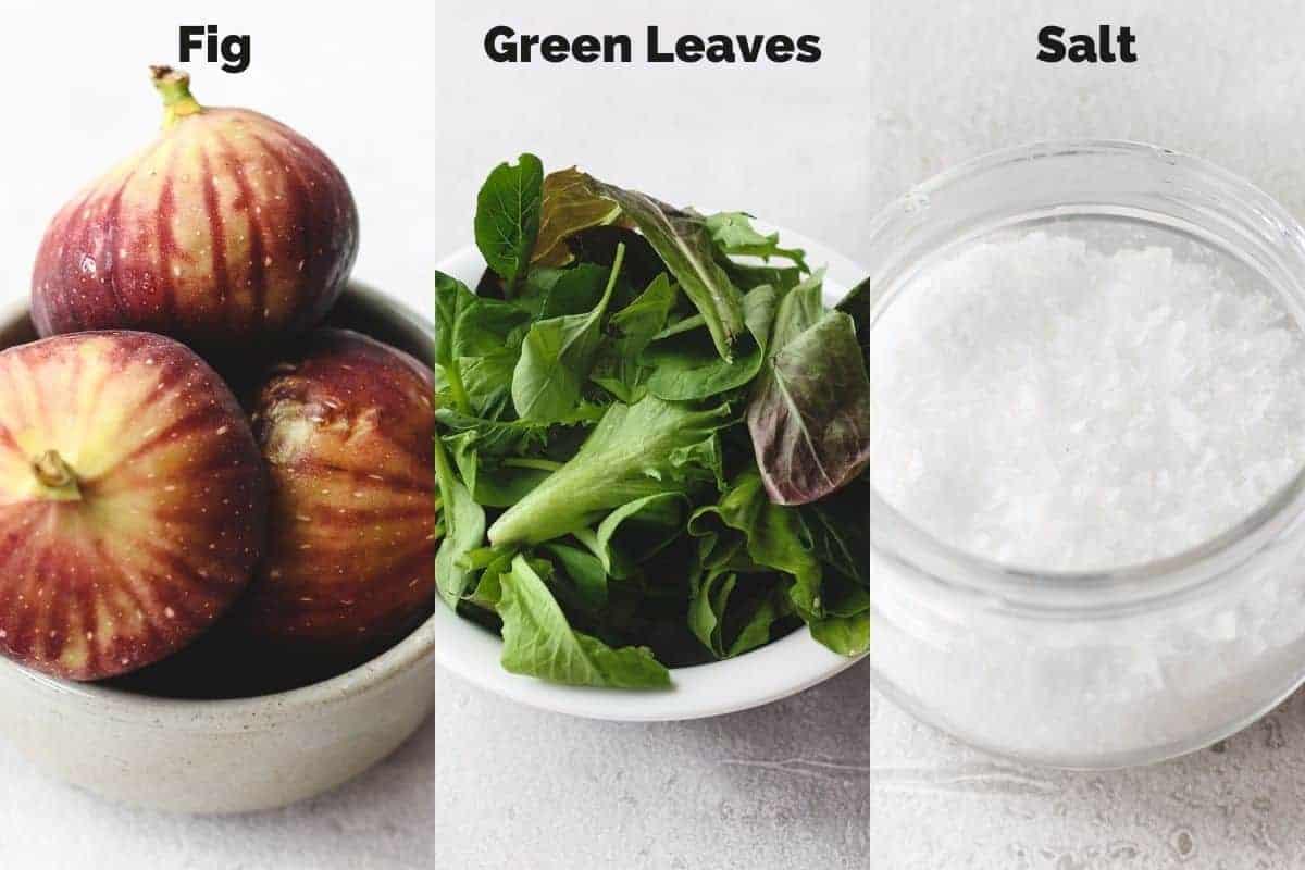 ingredients for fig salad